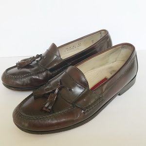 Cole Haan Brown Leather Tassel Loafers - 9.5 D